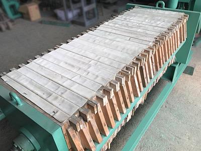 中古小型フィルタープレス ろ板